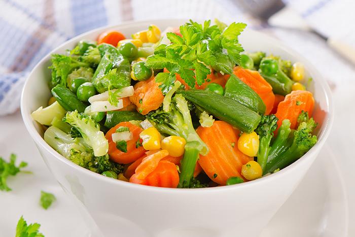 verduras al vapor sin vaporera