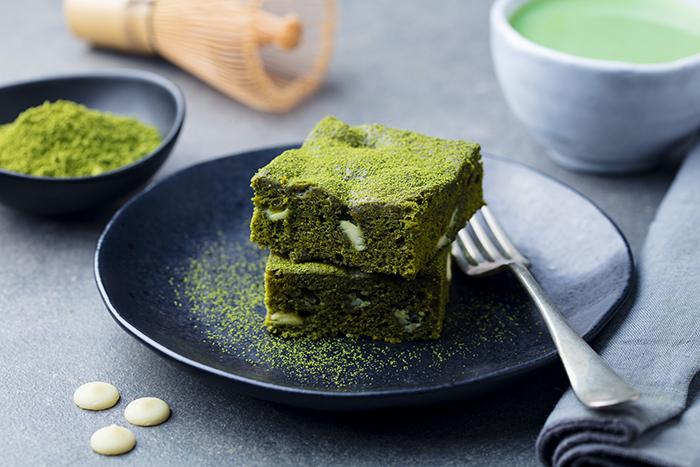 postre de té verde