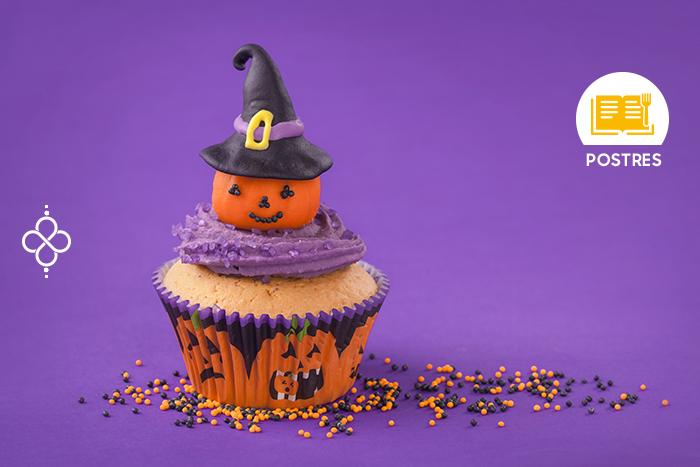 Halloween: Cupcake susto de calabaza