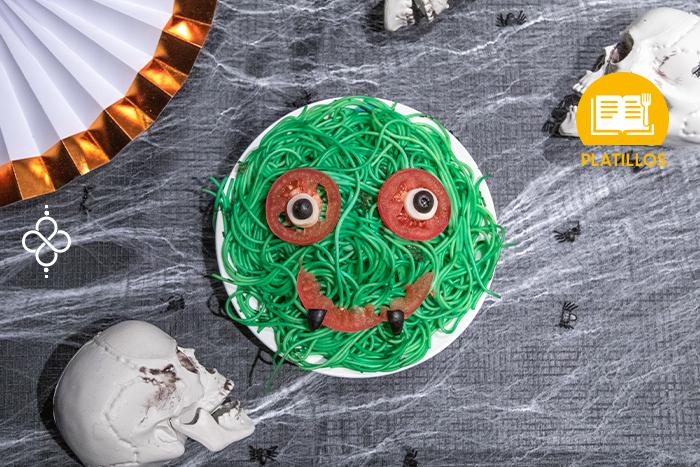 Halloween: Espagueti monstruo