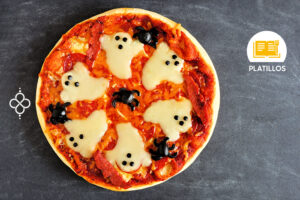 halloween pizza fantasma
