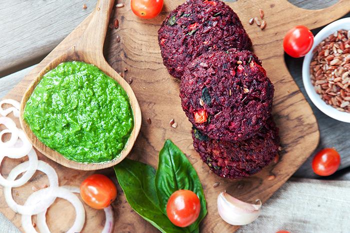 hamburguesa vegetariana receta