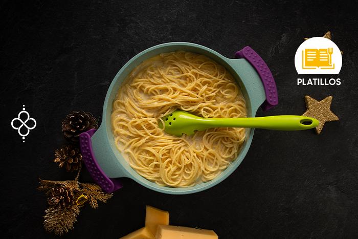 Especial de Navidad: Espagueti blanco a los 3 quesos