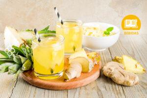 jugo detox de pina y jengibre
