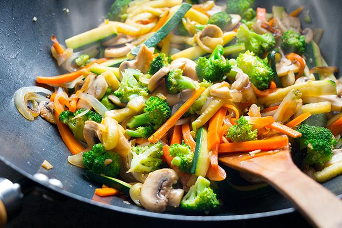 verduras a la mantequilla con vapor