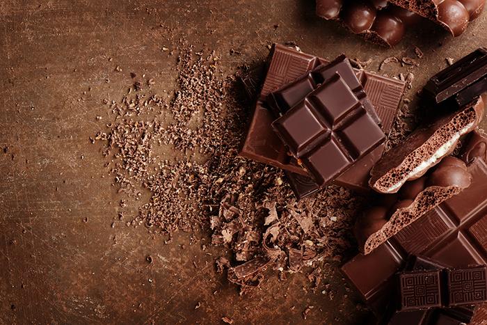 postre de mousse de chocolate