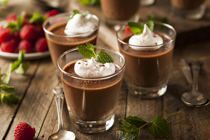 mousse de chocolate casero