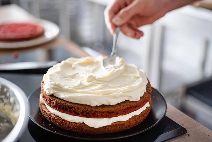 ingredientes pastel red velvet