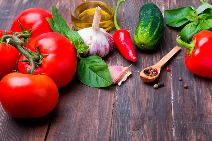ingredientes para gazpacho