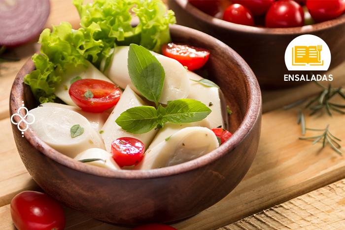 Ensalada de palmitos con yogur